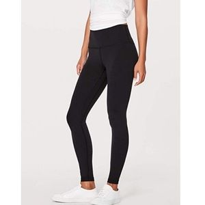 LULULEMON Black High Waist Yoga Leggings